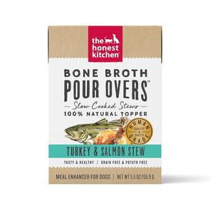 The Honest Kitchen Pour Overs Grain Free Turkey & Salmon Stew Recipe Food Topper for Dogs