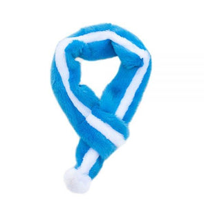 ZippyPaws Hanukkah Blue Plush Scarf For Dogs