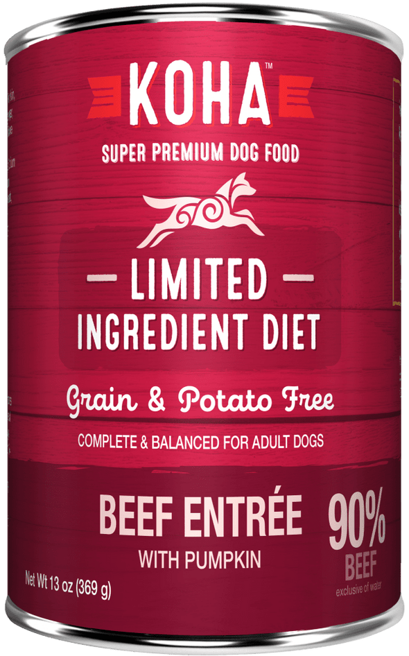 KOHA Grain & Potato Free Limited Ingredient Diet Beef Entree with Pumpkin Canned Dog Food