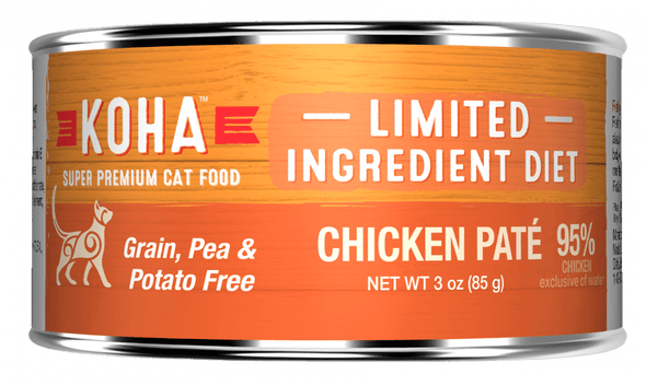 KOHA Grain & Potato Free Limited Ingredient Diet Chicken Pate Canned Cat Food