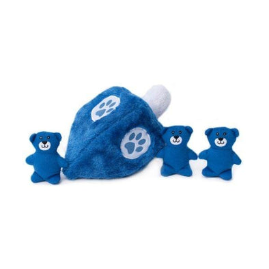 ZippyPaws Hanukkah Zippy Burrow Dreidel Hide and Seek Puzzle Dog Toy
