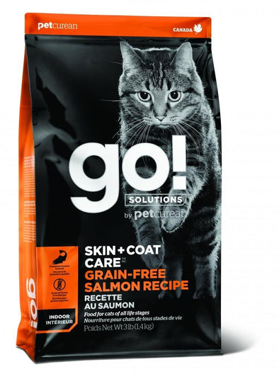 Petcurean GO! Grain Free Skin + Coat Care Salmon Recipe Dry Cat Food