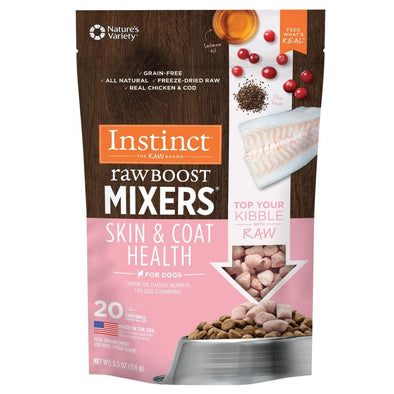 Instinct Raw Boost Mixers Grain Free Skin & Coat Health Freeze Dried Raw Dog Food Topper