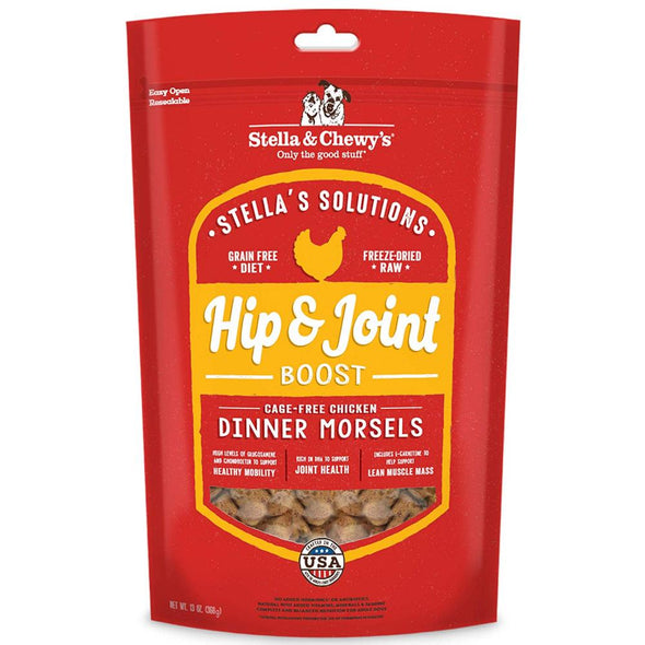 Stella & Chewy's Stella's Solutions Grain Free Hip & Joint Boost Cage Free Chicken Dinner Morsels Freeze-Dried Raw Dog Food