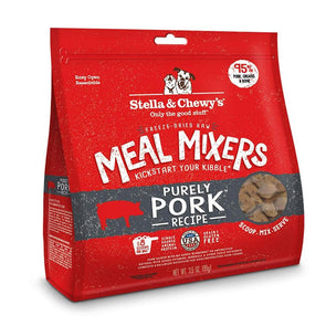 Stella & Chewy's Purely Pork Grain Free Meal Mixers Freeze Dried Raw Dog Food