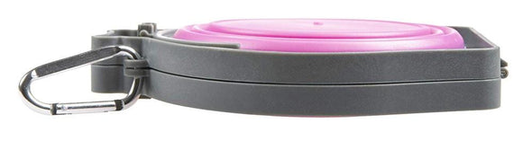 Loving Pets Pink Bella Roma Travel Double Diner Bowl