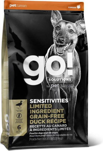 Petcurean GO! Solutions Sensitivies Grain Free Duck Recipe Dry Dog Food