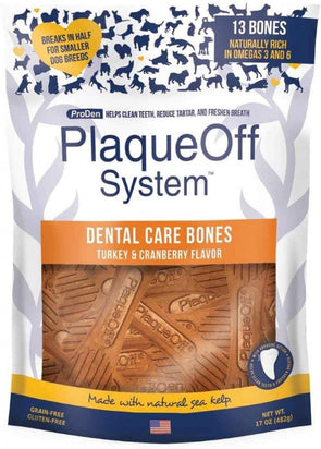 Proden PlaqueOff Dental Turkey & Cranberry Dog Bones