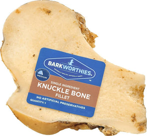 Barkworthies Knuckle Bone Beef Fillet Dog Chew for Medium & Large Breed Dogs