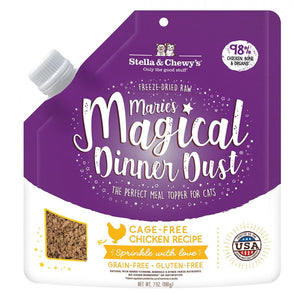 Stella & Chewy's Marie's Magical Dinner Dust Cage Free Chicken Cat Food Topper