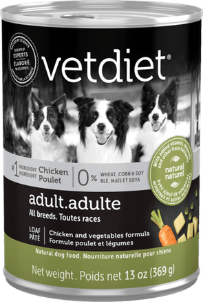 Vetdiet Chicken & Vegetables Formula Adult Canned Dog Food
