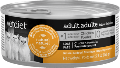 Vetdiet Chicken Formula Adult Indoor Canned Cat Food