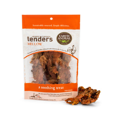Earth Animal Mellow Herbed Chicken Tenders Dog Treats