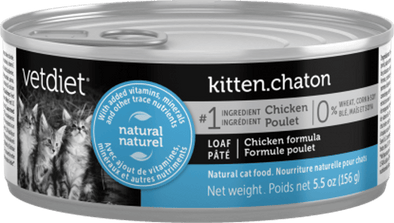 Vetdiet Chicken Formula Kitten Canned Cat Food