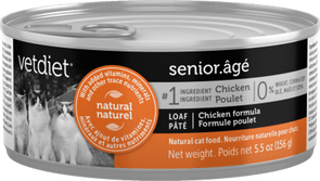 Vetdiet Chicken Formula Senior Canned Cat Food