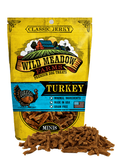 Wild Meadow Farms Classic Turkey Jerky Minis Treats for Dogs