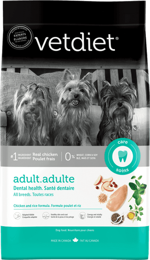Vetdiet Chicken & Rice Formula Adult Dental Health Dry Dog Food