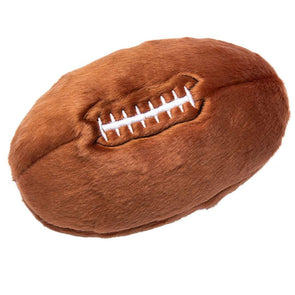 Fluff and Tuff Football Plush Dog Toy