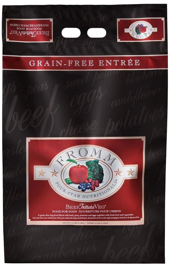 Fromm Four Star Grain Free Beef Frittata Veg Dry Dog Food