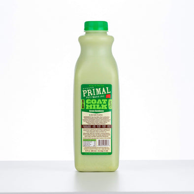Primal Green Goodness Raw Frozen Goat Milk Bowl Booster for Cats and Dogs