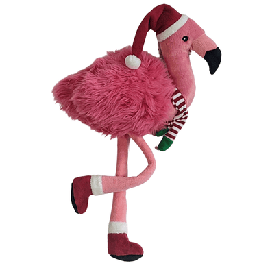 Fluff and Tuff Kitt Flamingo Plush Dog Toy