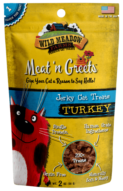 Wild Meadow Farms Turkey Meat'N Greets Treats for Cats