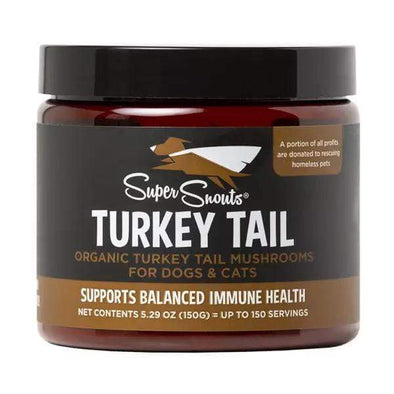 Super Snouts Turkey Tail Powder Supplements for Dogs and Cats