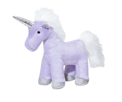 Fluff and Tuff Violet Unicorn Plush Dog Toy
