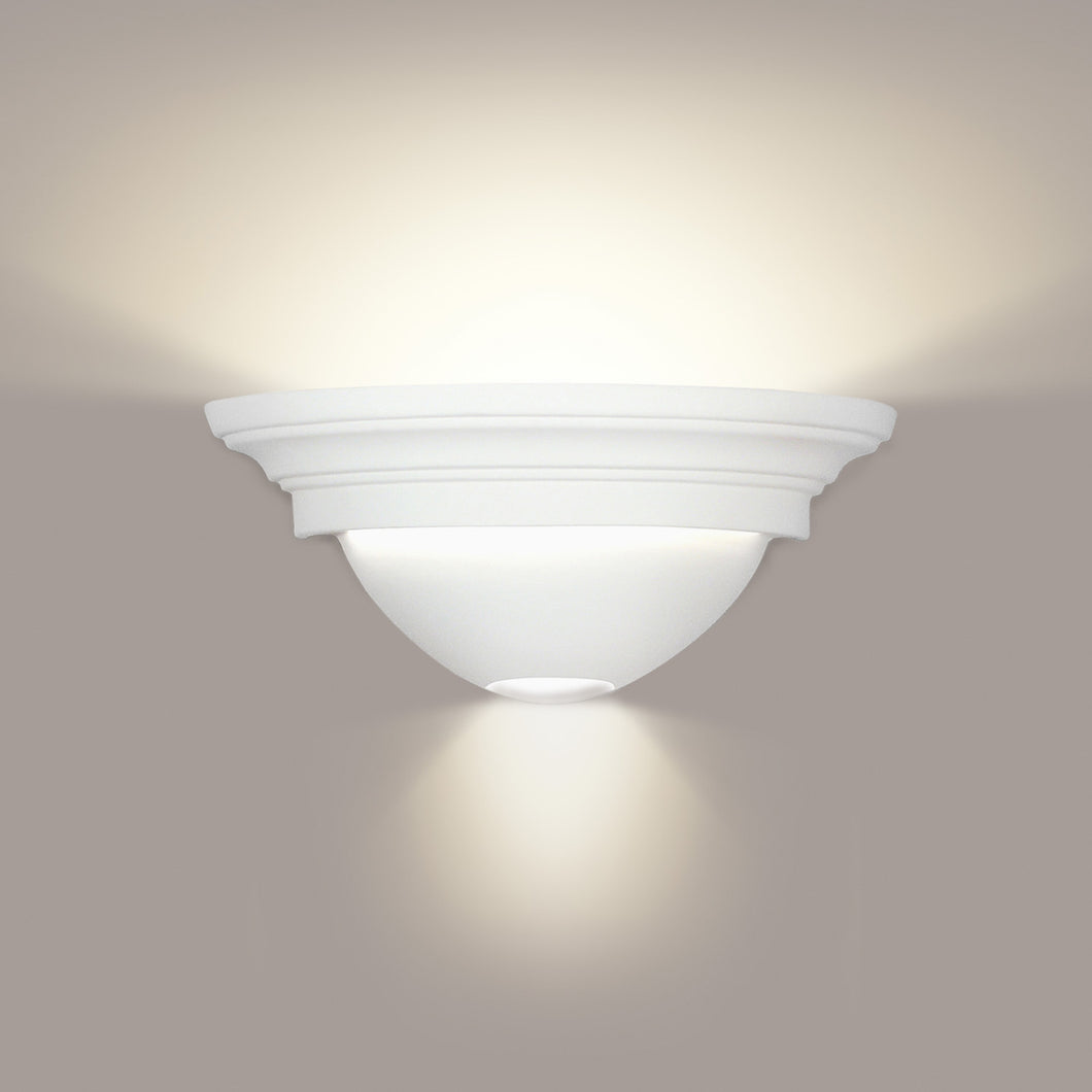 Cornice wall sconce with up and down light