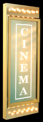 Classic cinema home theater sign