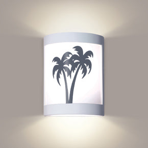 Palm trees wall sconce