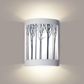 Wall sconce with trees