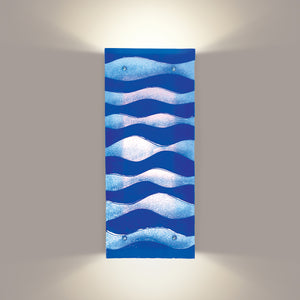 Water waves wall sconce