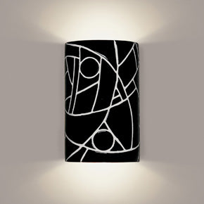 Modern art black wall sconce