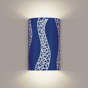 Wall sconce blue and white