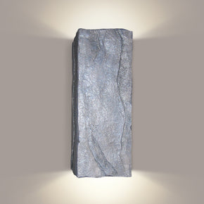 Wall sconce that looks like rock