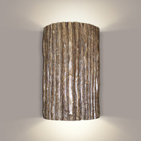 Rustic wall sconce wood