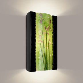 Meadow Wall Sconce Black Gloss and Multi Lime