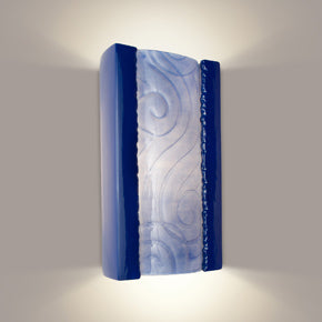 Clouds Cobalt Blue and Sapphire Wall Sconce