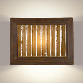 Ripple Butternut and Caramel Wall Sconce