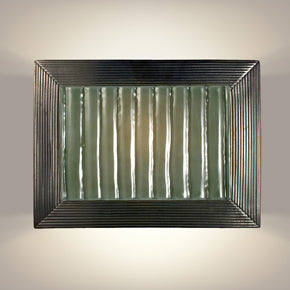 Ripple Gunmetal and Seaweed Wall Sconce