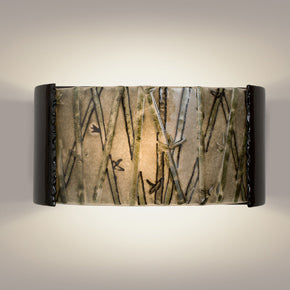 Asia Black Gloss and Multi Seaweed Wall Sconce