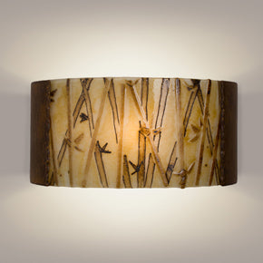 Asia Butternut and Multi Caramel Wall Sconce