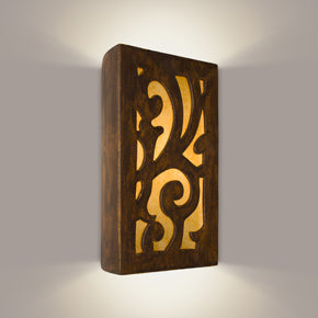 Wall sconce brown with design