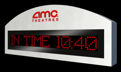 Programmable theater sign with optional laser cut logo