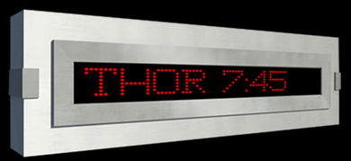 Programmable scrolling letter electronic sign