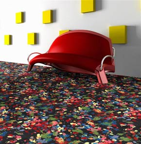 """Splatter Paint"" Theme Theater Area Rug and Carpet"