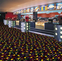 "Load image into Gallery viewer, ""Streamers & Stars"" Themed Theater Area Rugs and Carpet"