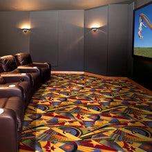 "Load image into Gallery viewer, ""Sunset Strip"" Theme Theater Carpet"