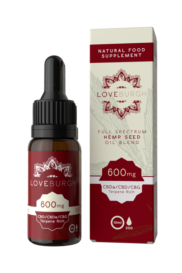 Loveburgh 600mg/10ml CBD Hemp Oil (6%)